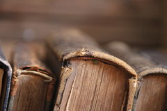 Old books in the Library, soft focus. Education, Science idea. Royalty Free Stock Photo