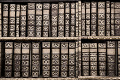 Old books in the Library of Stift Melk, Austria. Stock Photos