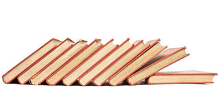 Old books lineup Royalty Free Stock Image