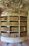 Old books in Mafra Palace Library Stock Photography
