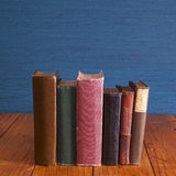 Old Books 0n Rustic Pine Table Royalty Free Stock Photo