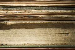 Old books. Old paper close up background Stock Image