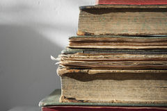Old books. Old paper close up background Royalty Free Stock Image