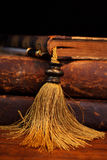 Old Books and Pen Stock Photos