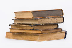 Old books on a pile Royalty Free Stock Photos