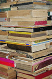 Old books pile background Royalty Free Stock Photo