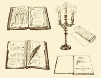 Old books and registers Stock Images