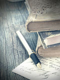 Old books in retro style Royalty Free Stock Image
