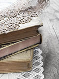 Old books in retro style Stock Images