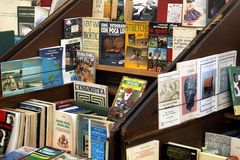 Old books for sale Royalty Free Stock Photography