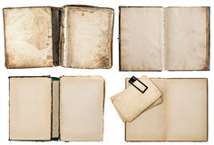 Old books set with grungy pages Royalty Free Stock Photo