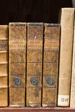 Old books on the shelf Stock Photography