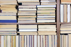 Old Books on a shelf background Royalty Free Stock Images