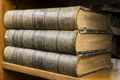 Old books on shelf Stock Photography