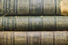 Old books on shelf Stock Image