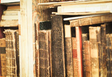 Old Books on a Shelf Royalty Free Stock Photos