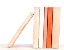Old books on shelf. Old books on wood shelf royalty free stock photography