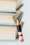 Old Books and Small Perfect Pencil Stock Photography