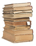 Old books in a stack. On white background Stock Image