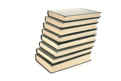 Old books stack Stock Photos