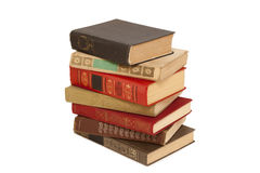 Old books in a stack Royalty Free Stock Images
