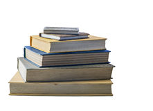 Old books in stack Stock Photo
