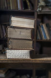4 old books Royalty Free Stock Photos