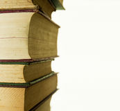 Old Books stacked up Stock Images