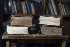 4 old books Stock Photography