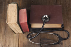 Old Books And Stethoscope Stock Photos