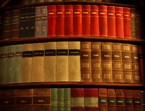Old Books in Strahov Library stock image