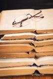 Old books in studio Stock Photos