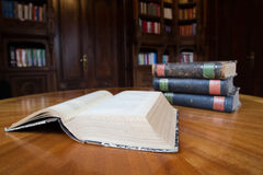Old books on a table Royalty Free Stock Images