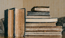 Old books on the table, vintage style, retro Royalty Free Stock Photography