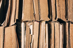Old books. Texture of old books, close up Stock Photo