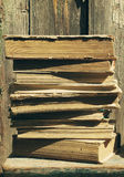 Old books. Texture of old books, close up Royalty Free Stock Photo
