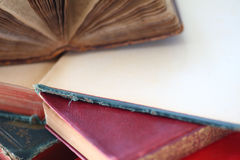 Old books, two open Stock Images