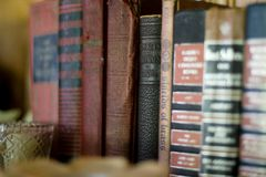 - Old Books Vintage Brown Red Royalty Free Stock Image