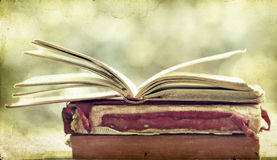 Old books. Vintage photo of old books Royalty Free Stock Photos