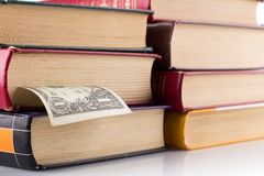 Old books on white background. Royalty Free Stock Photo
