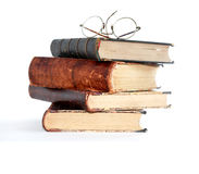 Old Books On White Stock Image