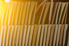 Old books on a wooden shelf Royalty Free Stock Photos