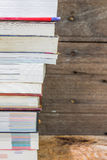 Old books on a wooden shelf. Stock Photography