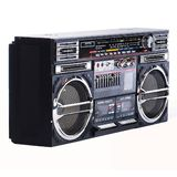 Old boombox. ON WHITE BACKGROUND royalty free stock images
