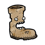 Old boot cartoon character Royalty Free Stock Image