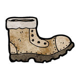 Old boot cartoon character Stock Photography
