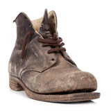 Old Boot Isolated Stock Photography