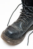 Old boot with laces Royalty Free Stock Photography