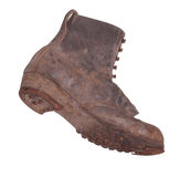 Old boot with steel shoe sole Stock Photography