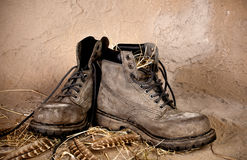 Old Boots Stock Photography
